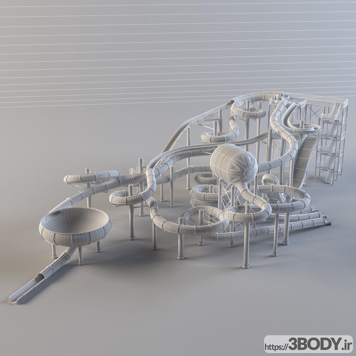 مدل سه بعدی اسباب بازی بچه تفریحات آبی عکس 2