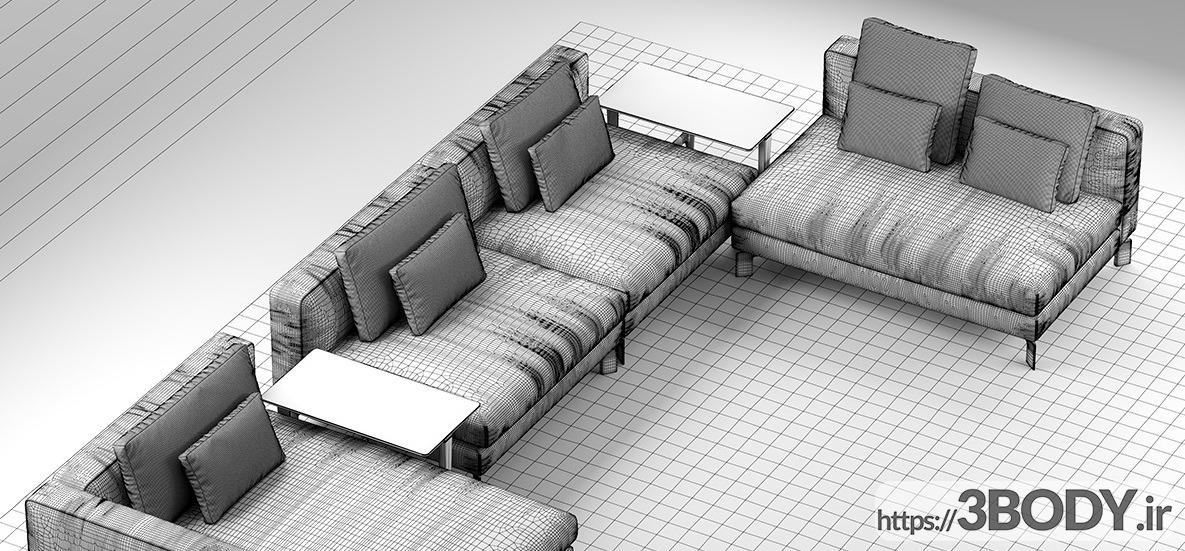 آبجکت سه بعدی   کاناپه عکس 3