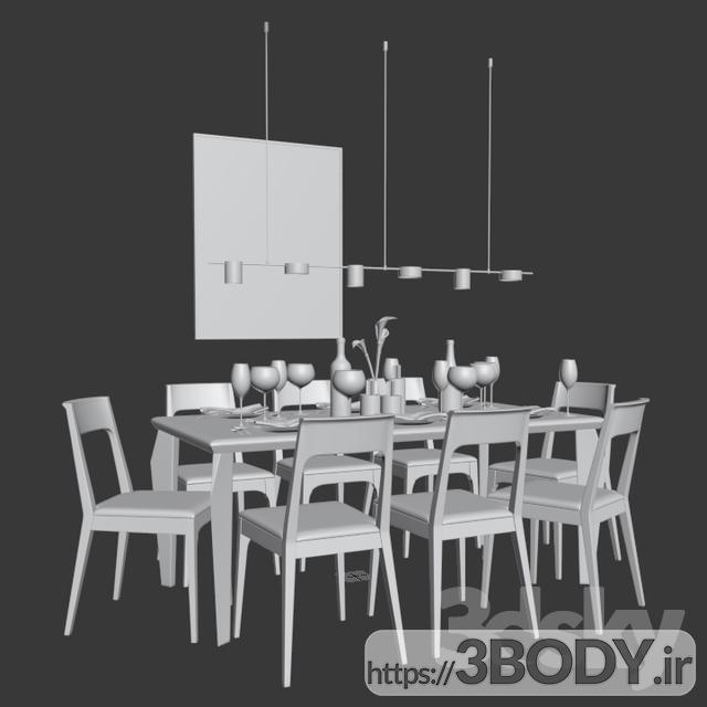آبجک ۳ بعدی  میز و صندلی مجموعه ناهار خوری عکس 3