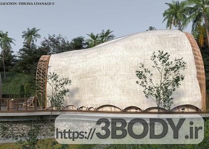 صحنه خارجی ویلا و کلبه چوبی برای sketchupt عکس 6