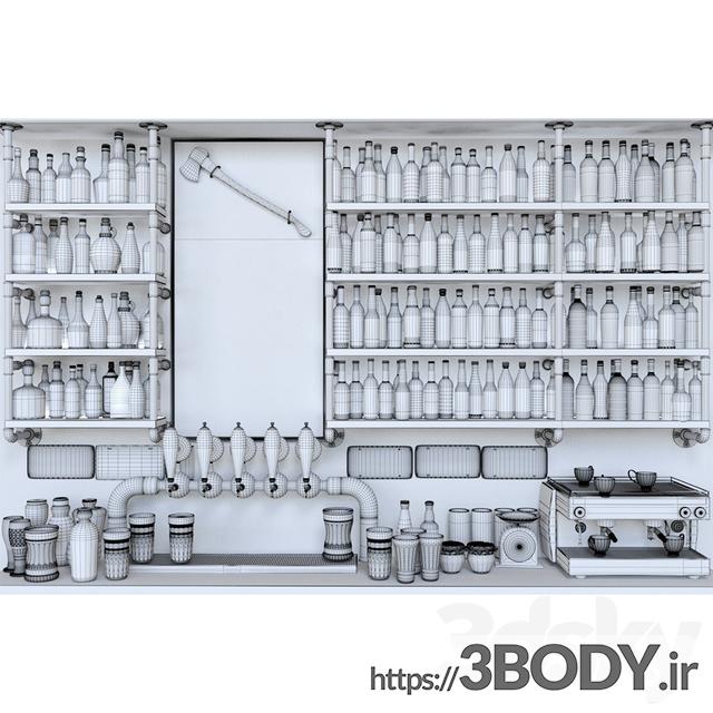 مدل سه بعدی قفسه وسایل عکس 2