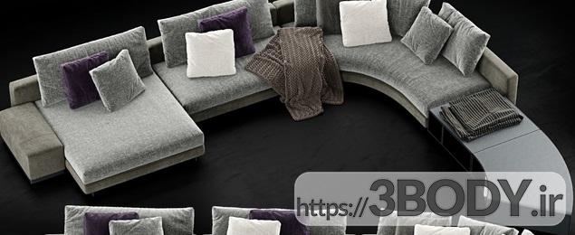 آبجکت سه بعدی  کاناپه عکس 1