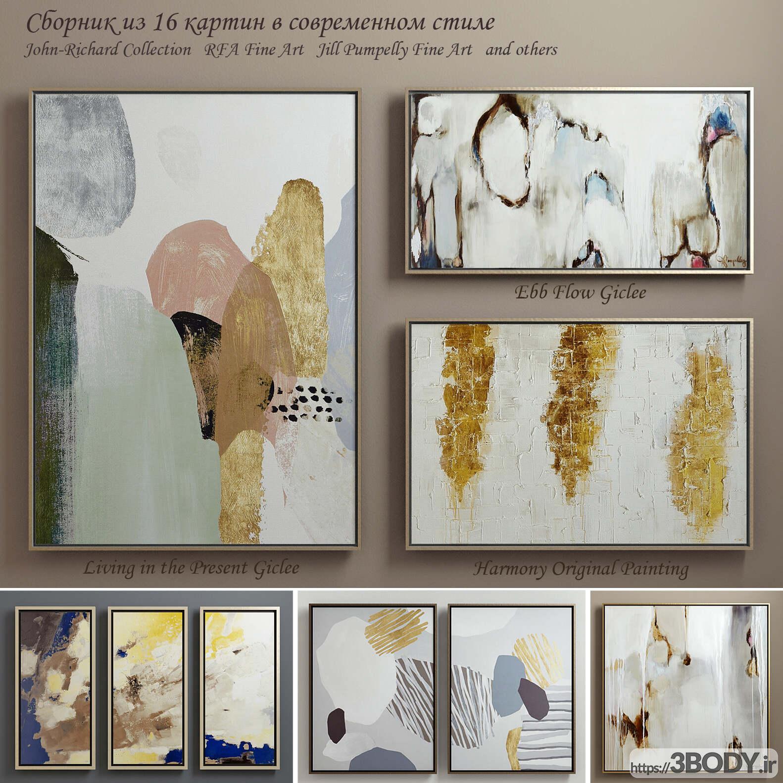 آبجکت سه بعدی مجموعه نقاشی های معاصر عکس 1