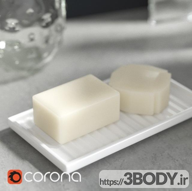 آبجکت سه بعدی دستشویی با دکوراسیون عکس 5