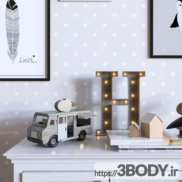 مدل سه بعدی اتاق کودک ست کودک عکس 2