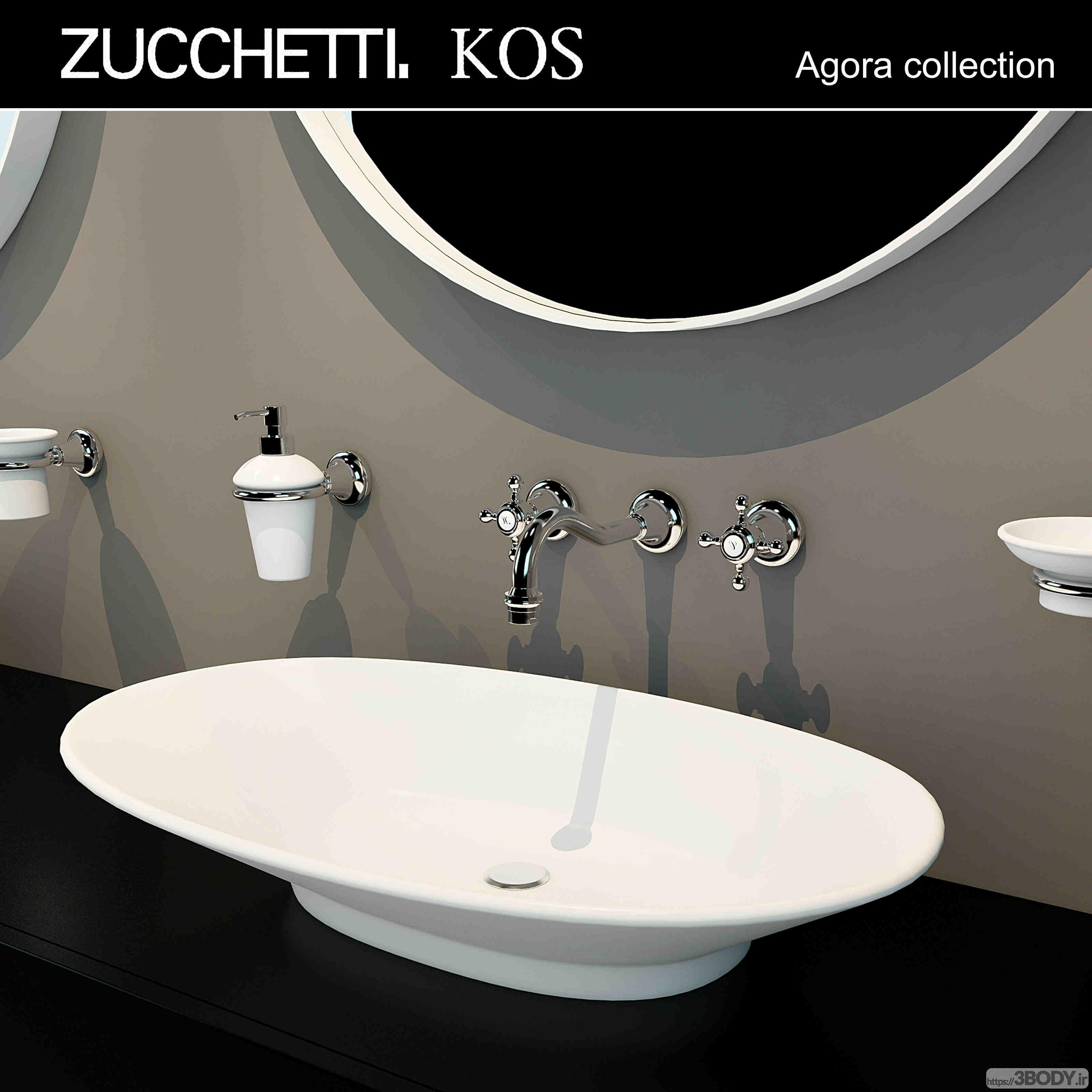 مدل سه بعدی مبلمان توالت عکس 3