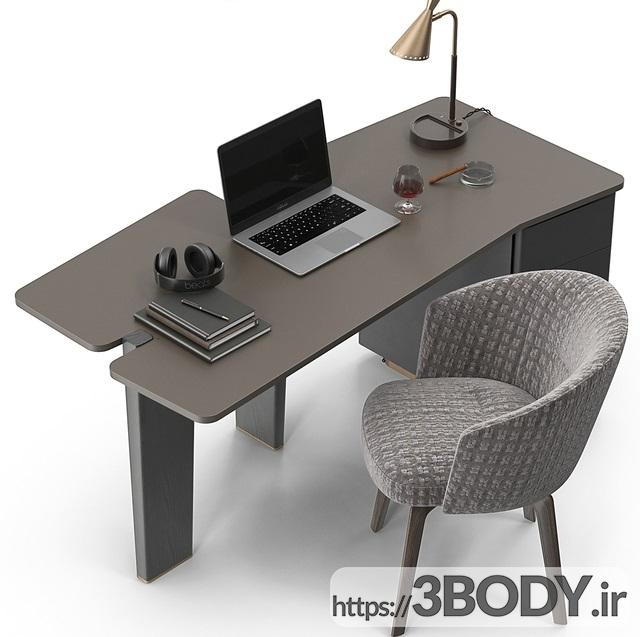 آبجکت سه بعدی ست میز و صندلی عکس 2