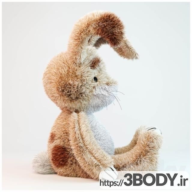 آبجکت ۳ بعدی اسباب بازی کودک خرگوش عکس 2