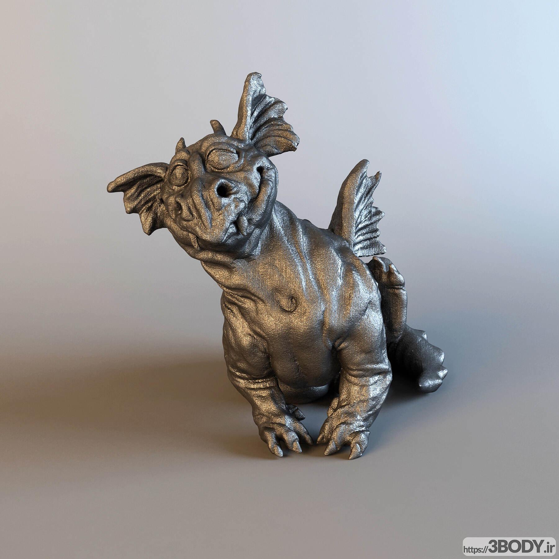 مدل سه بعدی تندیس اژدها عکس 2