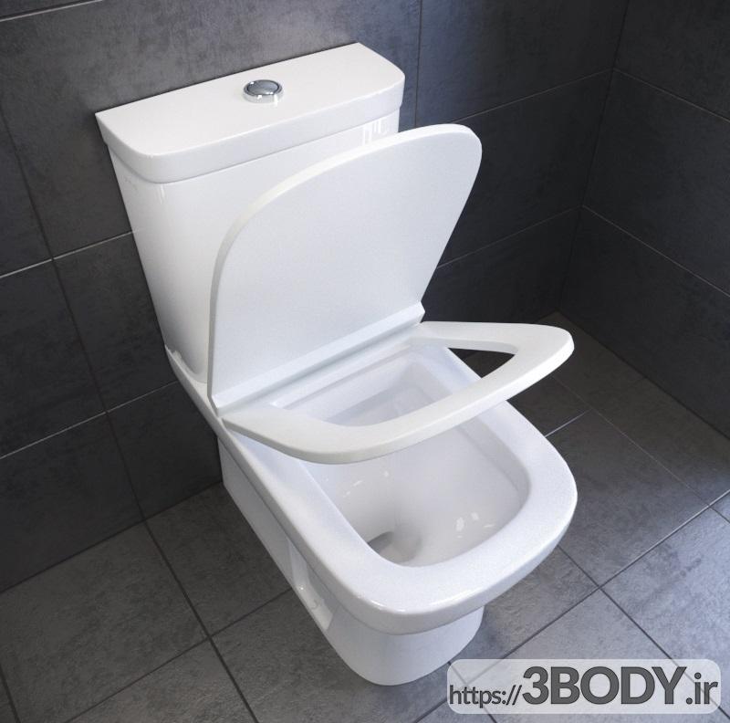 مدل سه بعدی توالت فرنگی عکس 3