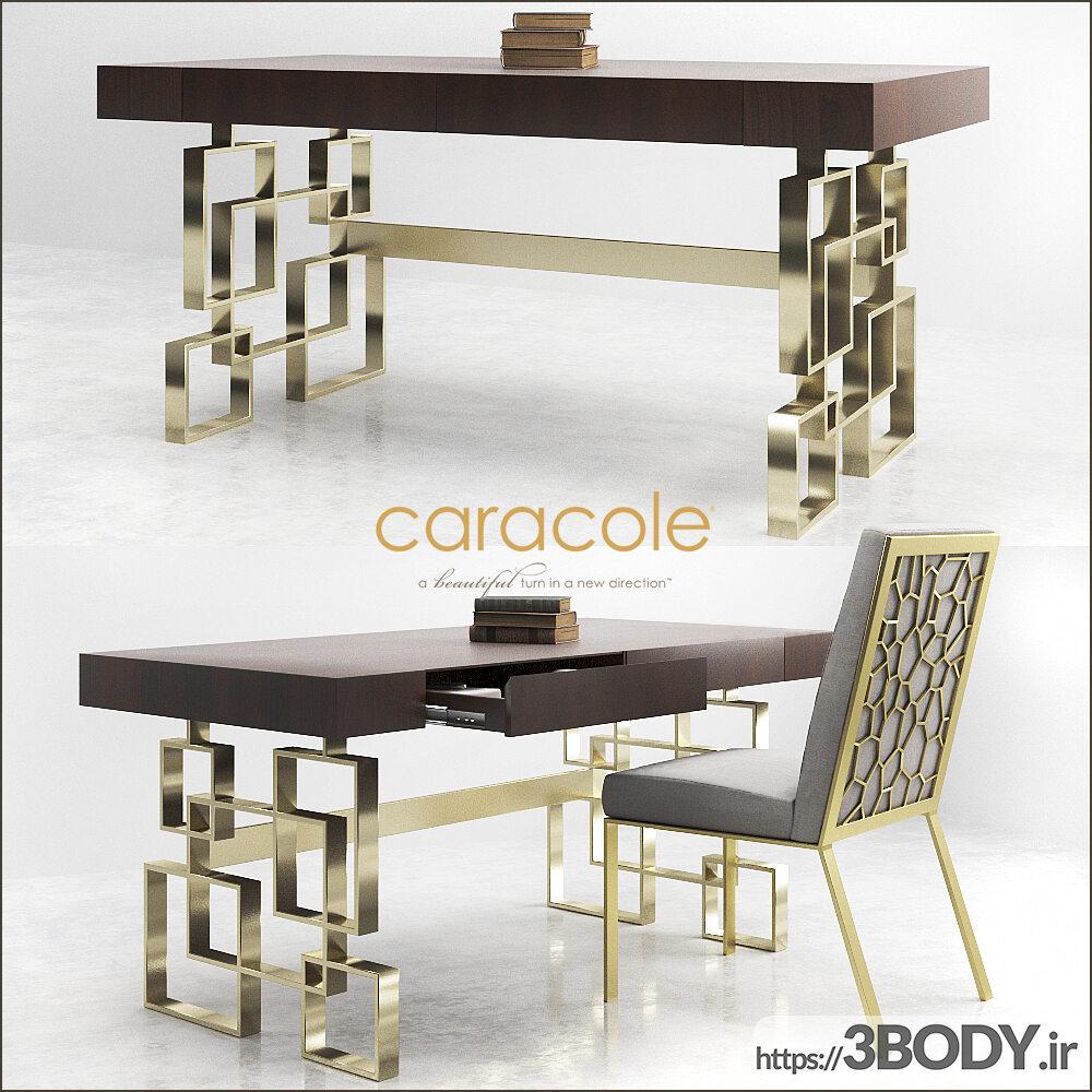 مدل سه بعدی میز و صندلی عکس 1
