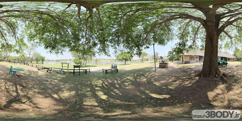 فایل HDRI پارک شهری عکس 1