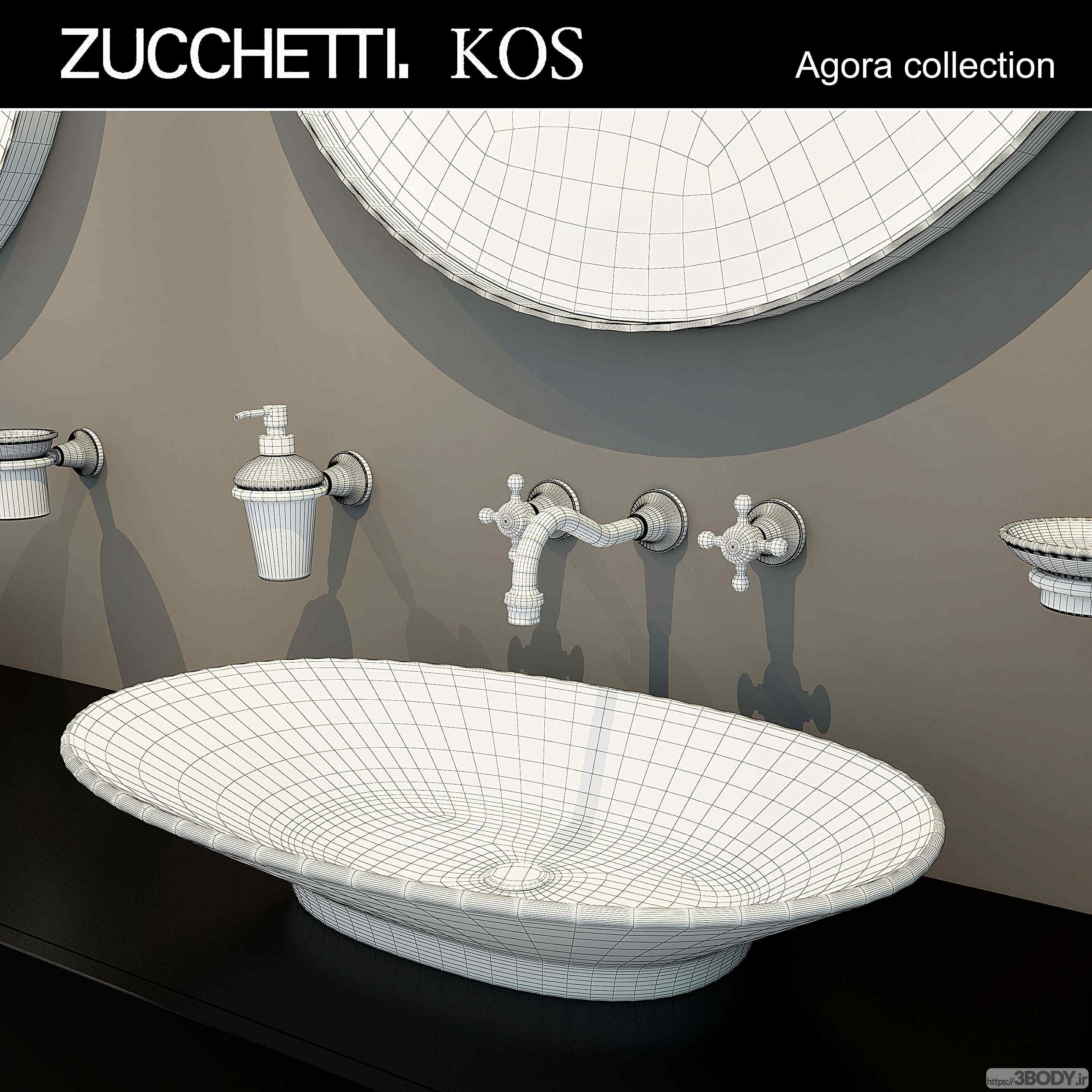 مدل سه بعدی مبلمان توالت عکس 2