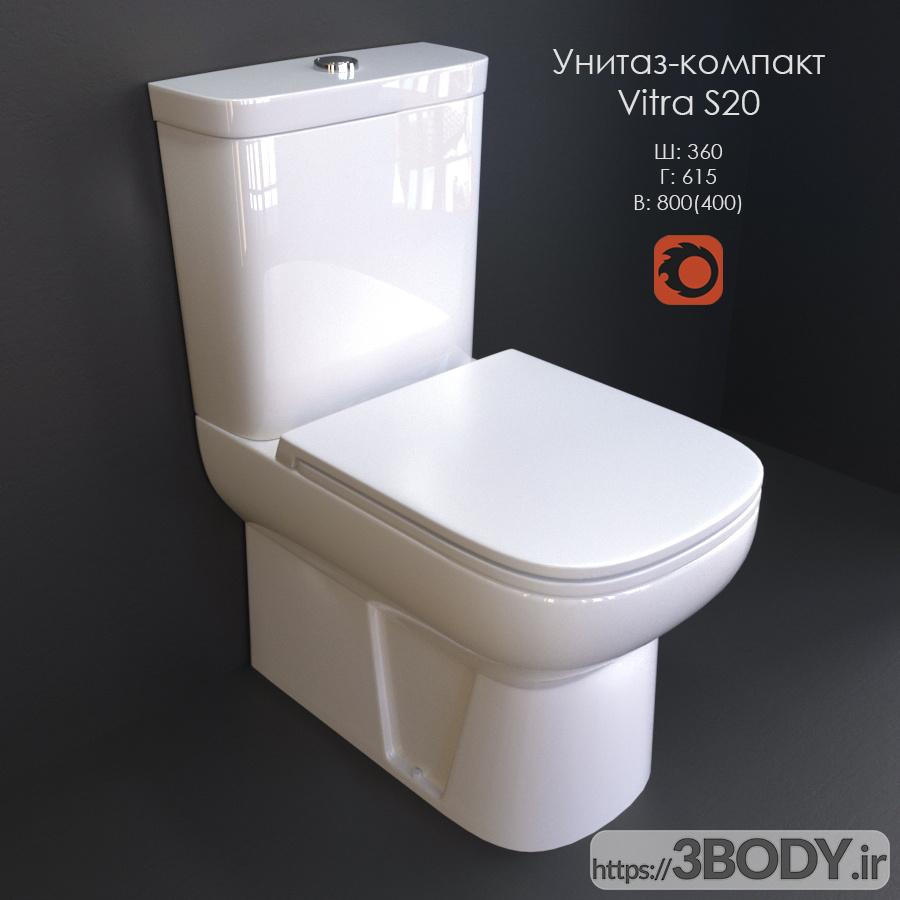مدل سه بعدی توالت فرنگی عکس 1