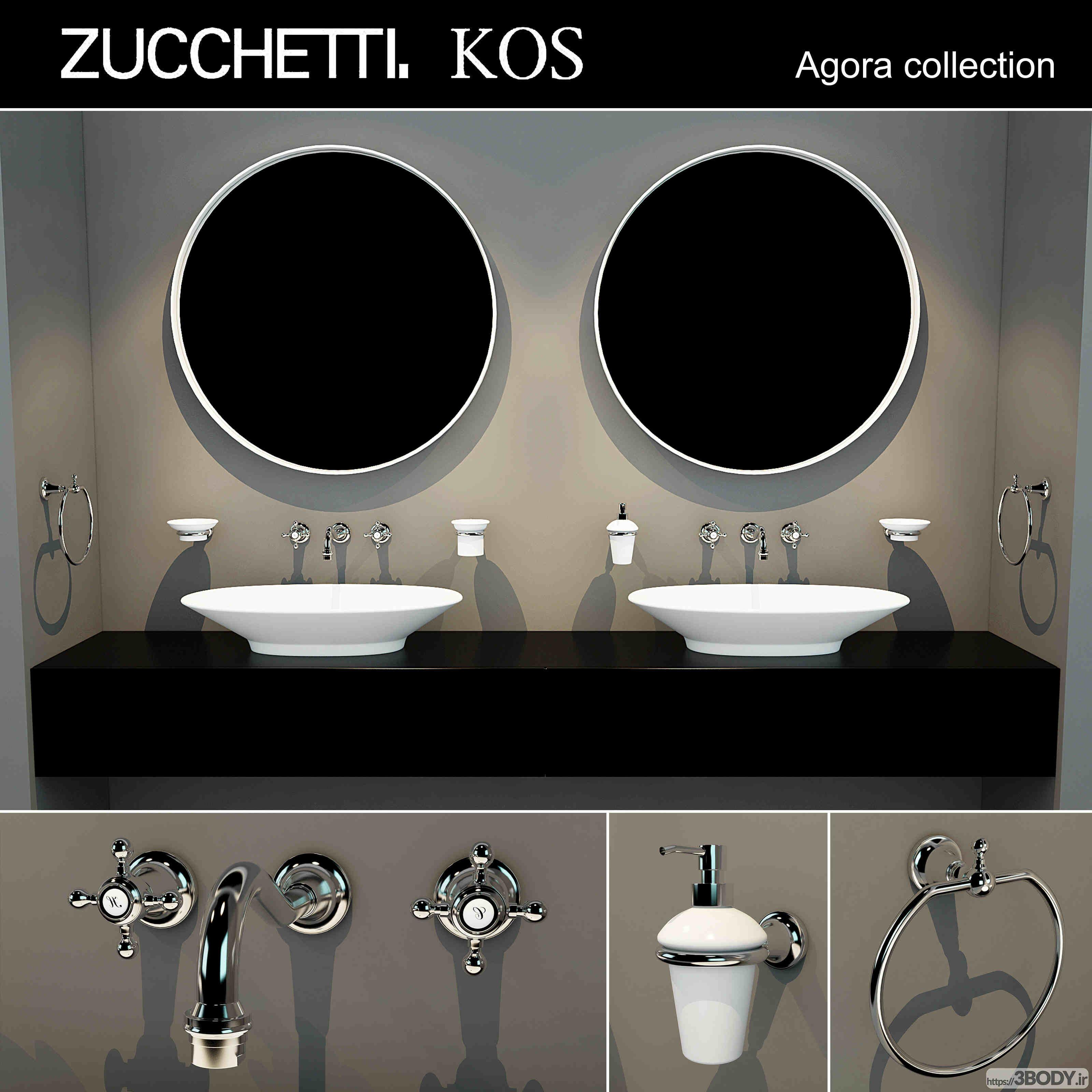 مدل سه بعدی مبلمان توالت عکس 1