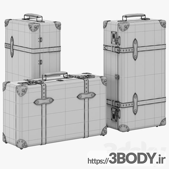 آبجکت سه بعدی چمدان عکس 3