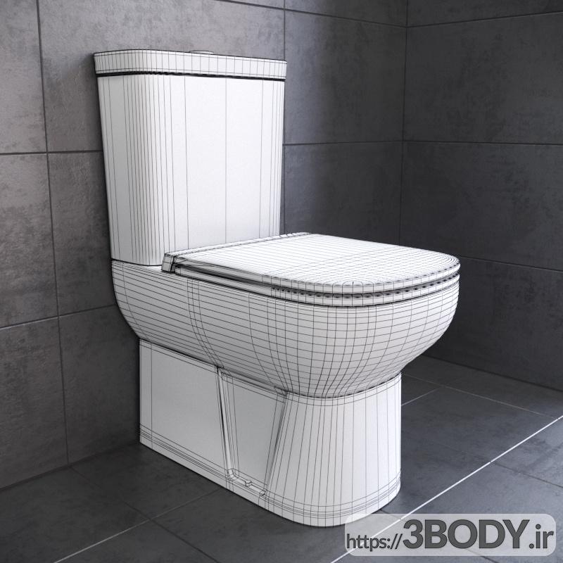مدل سه بعدی توالت فرنگی عکس 2