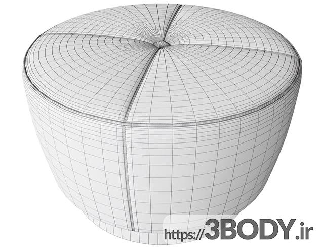 آبجکت سه بعدی  مبل راحتی عکس 4
