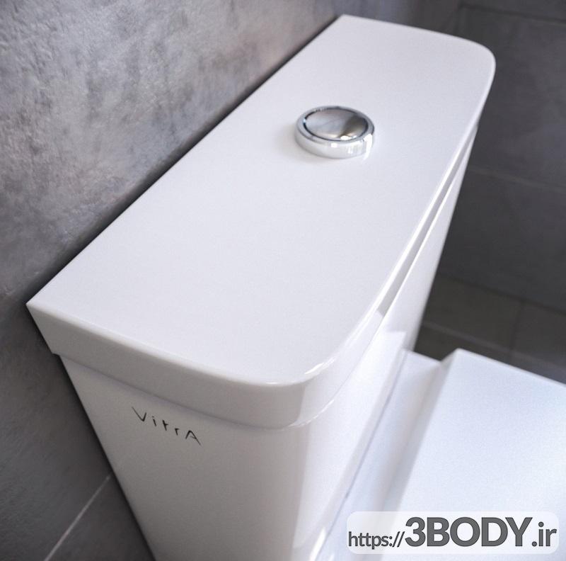 مدل سه بعدی توالت فرنگی عکس 4