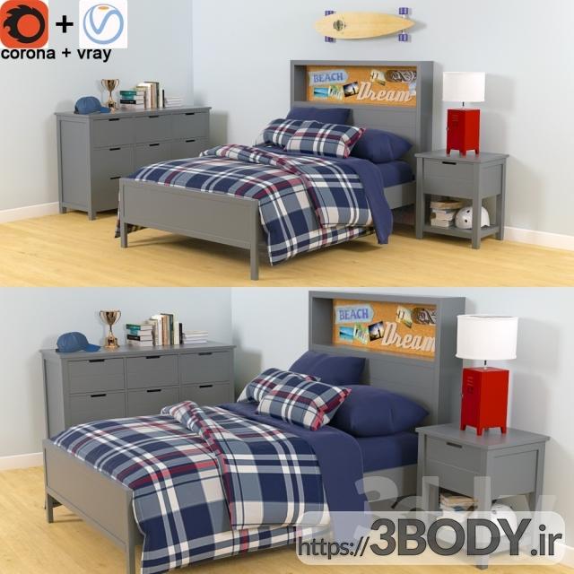 آبجکت سه بعدی اتاق کودک تختخواب سفارشی انبار سفال عکس 1