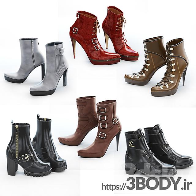 مدل سه بعدی مجموعه کفش های زنانه عکس 1