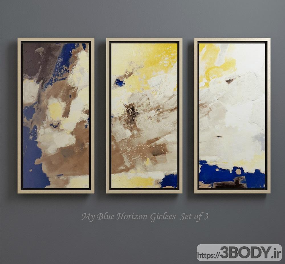 آبجکت سه بعدی مجموعه نقاشی های معاصر عکس 2