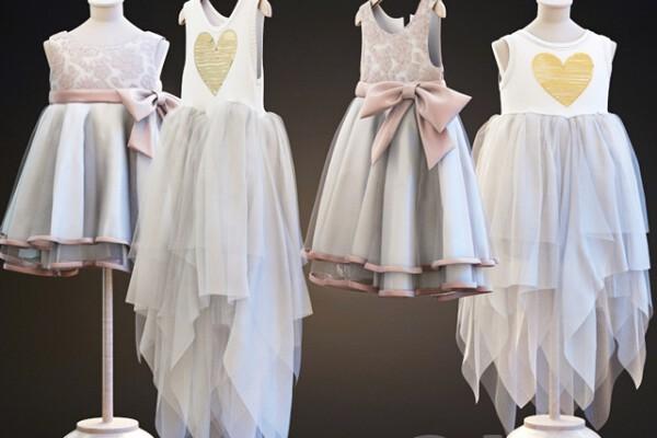 آبجکت سه بعدی مجموعه لباس کودک  سفید عکس اصلی
