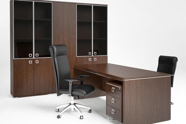 آبجکت سه بعدی میزو صندلی و کابینت اداری عکس اصلی