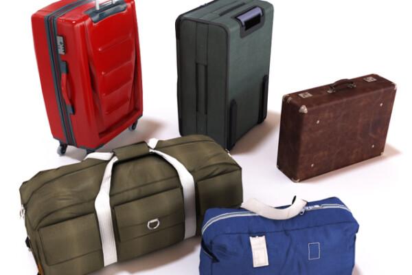مدل سه بعدی مجموعه کیف و چمدان عکس اصلی