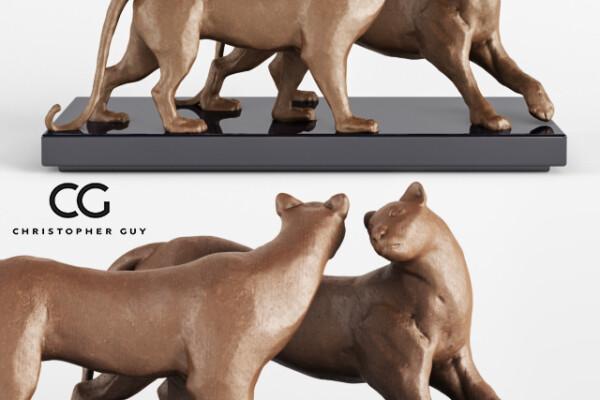 مدل سه بعدی مجسمه چیتا عکس اصلی