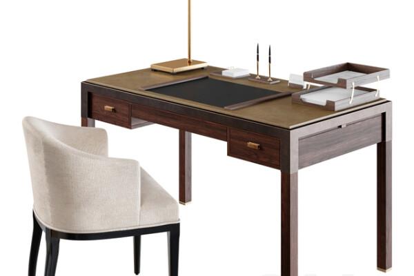 آبجکت سه بعدی میز و صندلی اداری عکس اصلی