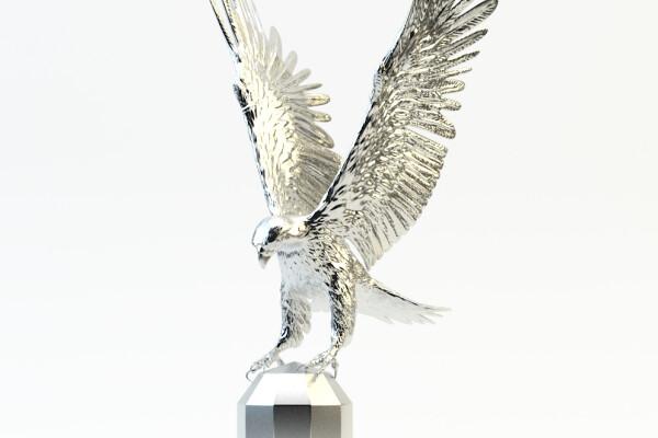 مدل سه بعدی تندیس عقاب عکس اصلی
