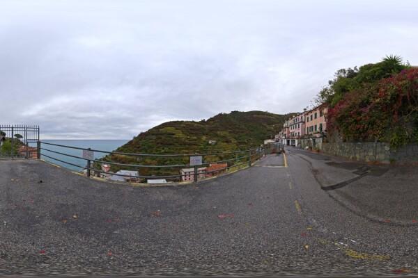 فایل HDRI خارجی جاده صخره ای ابری عکس اصلی