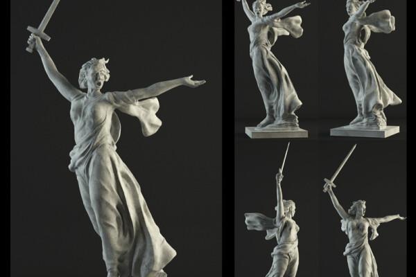 مدل سه بعدی مجسمه عکس اصلی