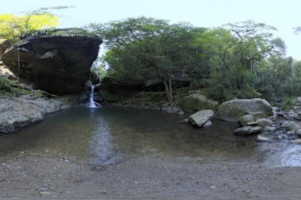 فایل HDRI غار آبی در جنگل عکس اصلی
