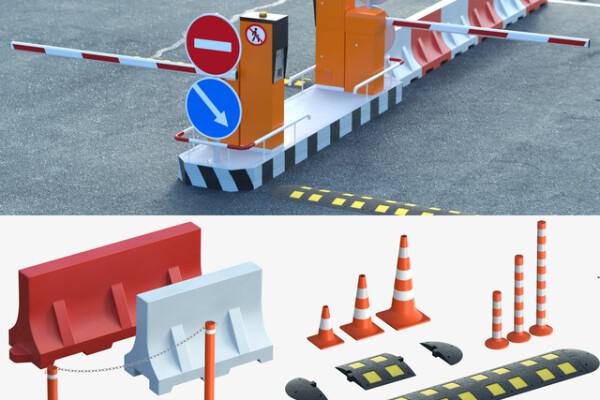 آبجکت سه بعدی تجهیزات ایجاد نرده های کنار جاده ای عکس اصلی