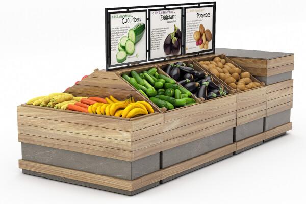 مدل سه بعدی جعبه های پر سبزیجات عکس اصلی