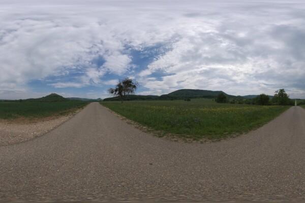 فایل HDRI خارجی جاده کوچک روستایی عکس اصلی