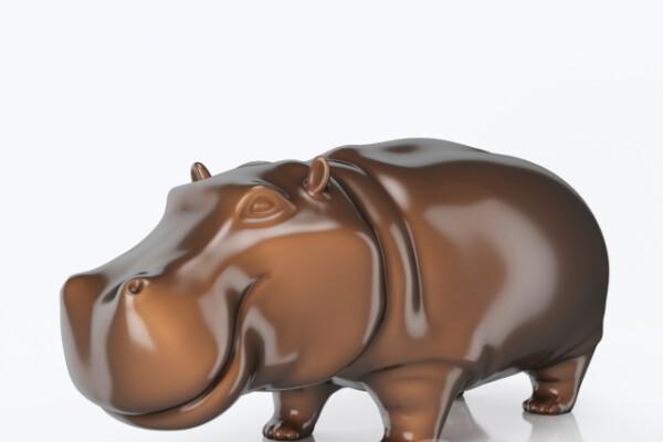 آبجکت سه بعدی مجسمه اسب آبی عکس اصلی