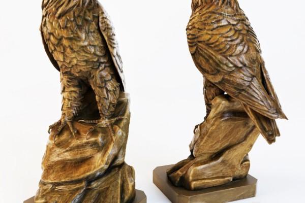 آبجکت سه بعدی مجسمه عقاب عکس اصلی