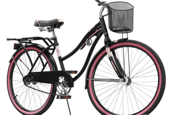 آبجکت دوچرخه کروزر همراه سبد   سیاه عکس اصلی
