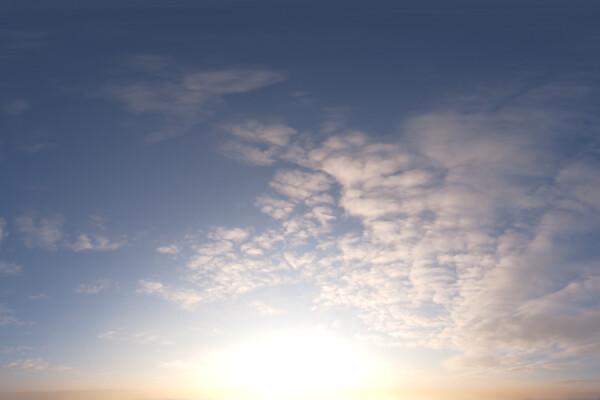 فایل اچ دی ار ای آسمان ابری طلوع عکس اصلی