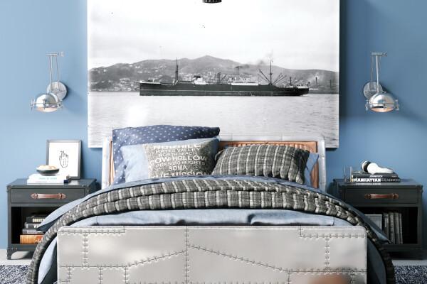 آبجکت سه بعدی تخت خواب دو نفره عکس اصلی