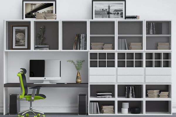مدل سه بعدی کابینت برای دفتر کار عکس اصلی