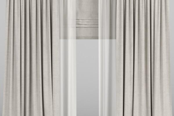 آبجکت سه بعدی پرده توری و رومی عکس اصلی