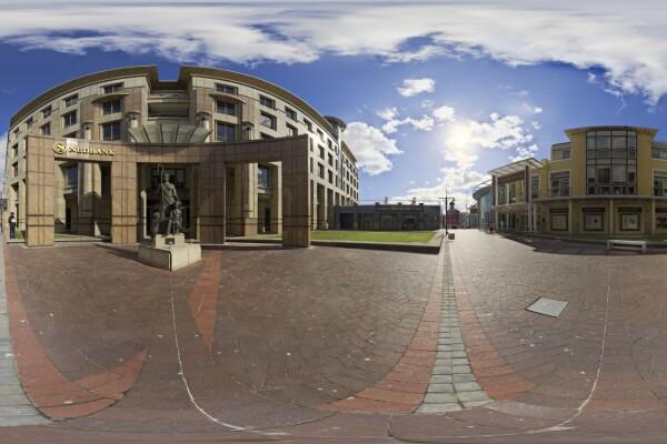 فایل HDRI خارجی حیاط شهری عکس اصلی