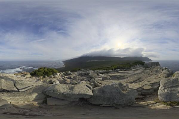 فایل HDRI آسمان ابری در اقیانوس عکس اصلی