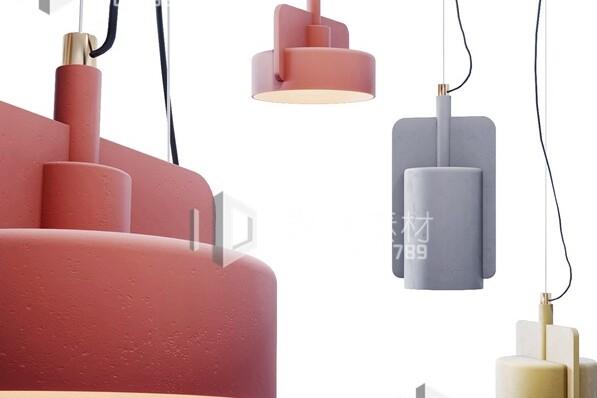 آبجکت سه بعدی  چراغ سقفی عکس اصلی