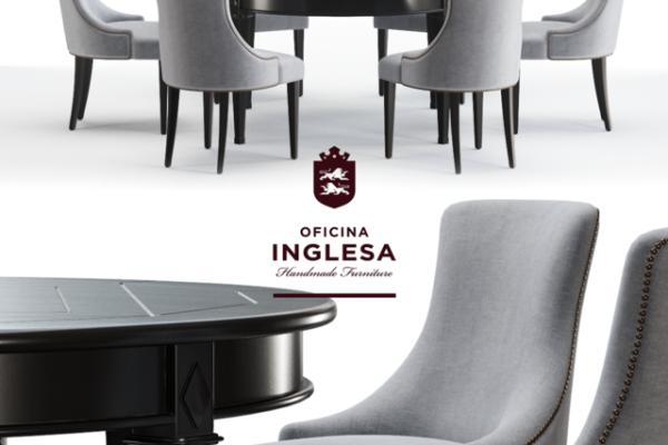مدل ۳ بعدی میز و صندلی عکس اصلی