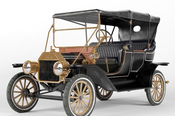آبجکت سه بعدی اتومبیل فورد T عکس اصلی